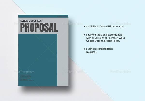 18 business proposal samples sample templates service business proposal template flashek Choice Image