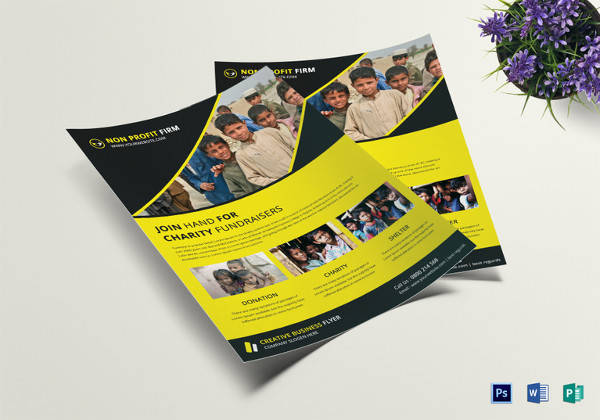 simple charity fundraiser flyer template