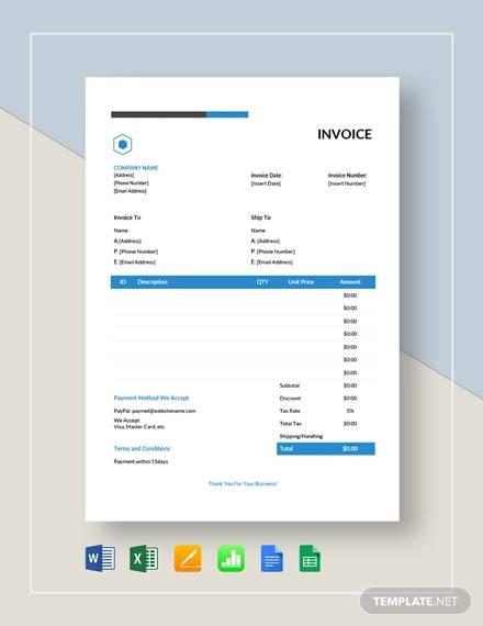 simple estimate invoice template