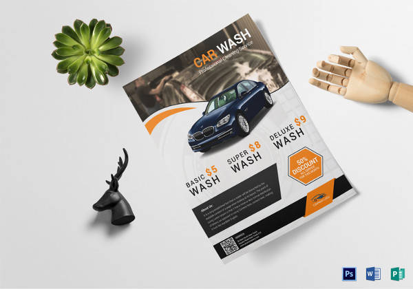special car wash flyer template