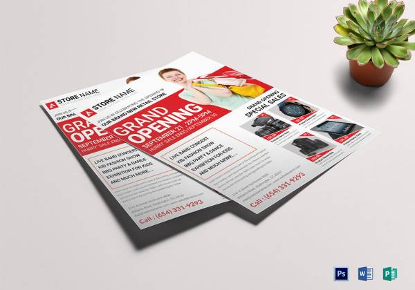 store grand opening flyer template