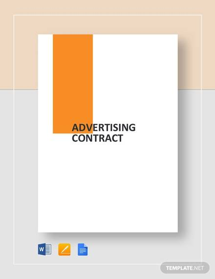 advertising contract