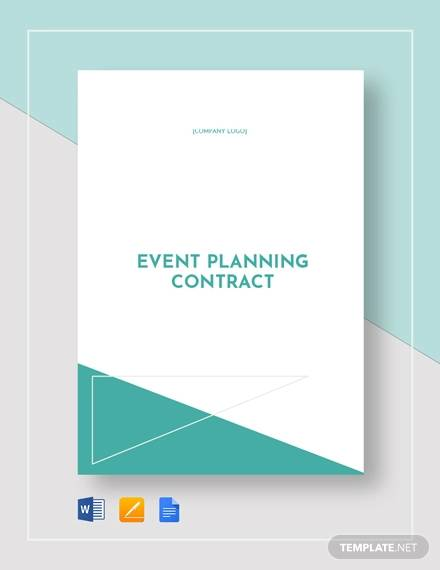 event planning contract