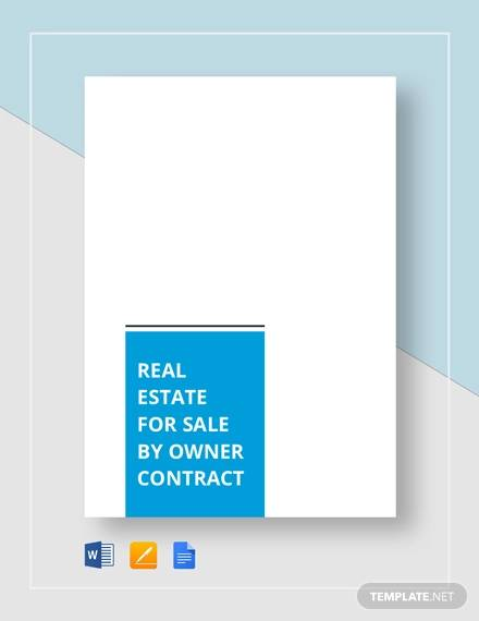 real estate for sale by owner contract