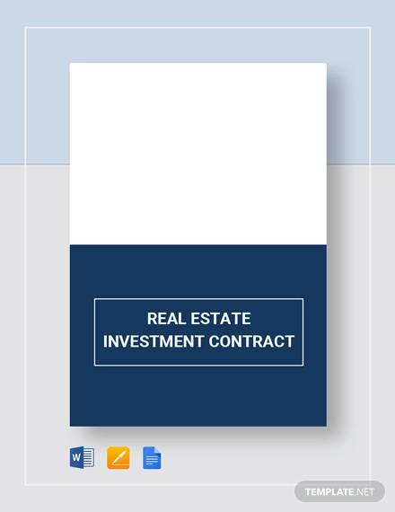 real estate investment contract1