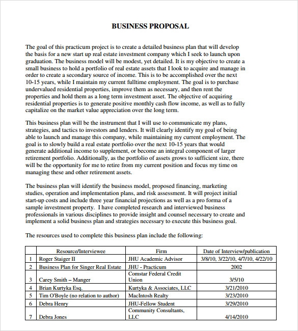 Sample Proposal 6 Documents In PDF Word – Business Proposal Sample Format
