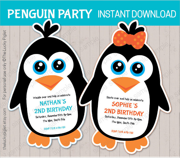 Sample Penguin Template   Documents In Pdf  Psd  Illustration
