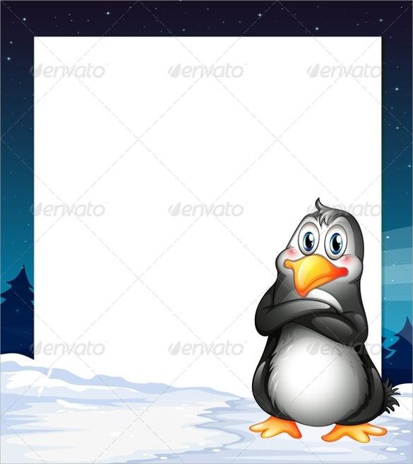 penguin template stencil
