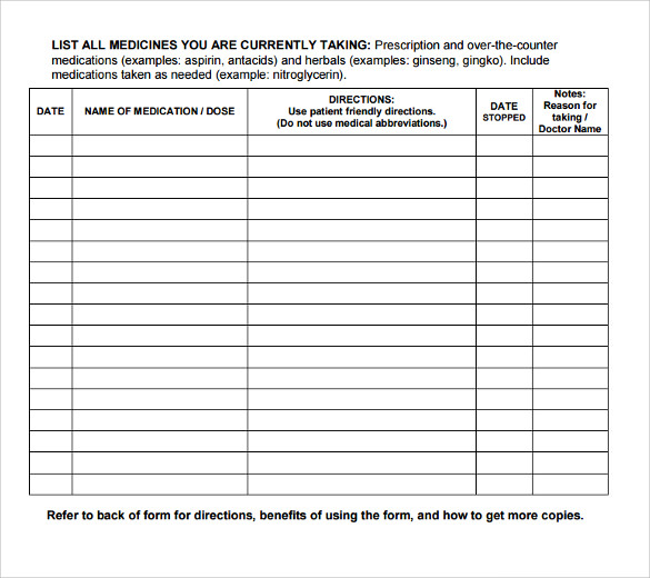 6 doctor prescription templates download for free sample for Medicine prescription template