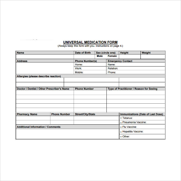 6 Doctor Prescription Templates Download For Free Sample