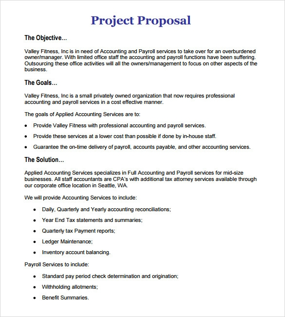 Proposal Template » Basic Project Proposal Template - Cover Letter