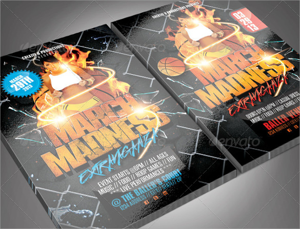 basketball tournament flyer template