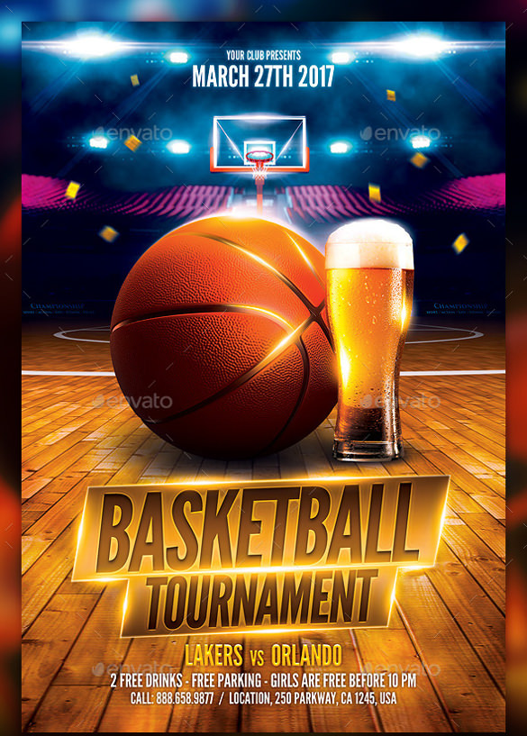24  basketball flyer templates to download