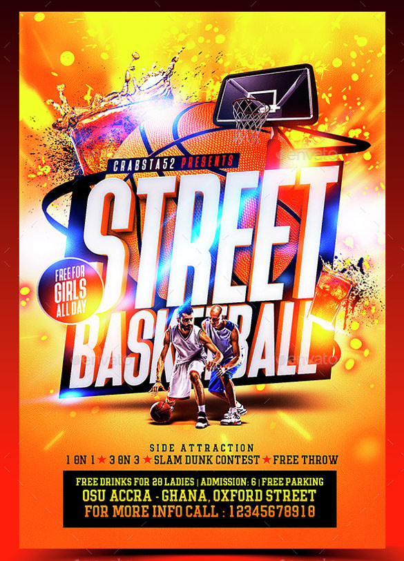 Basketball Flyer Template 18 Download Documents In Pdf Psd .