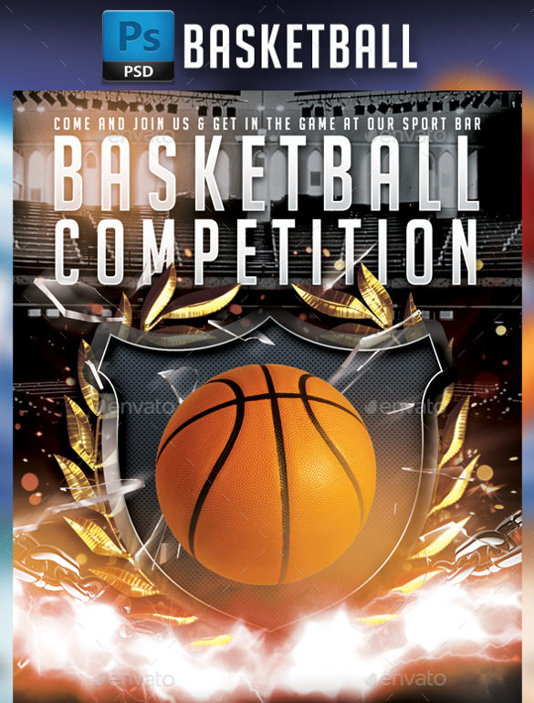 basketball flyer template psd