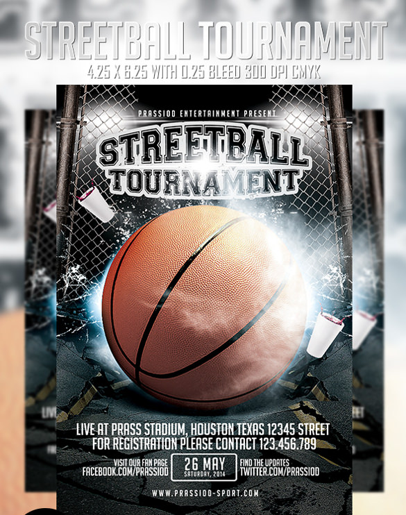 streetball tournament flyer template