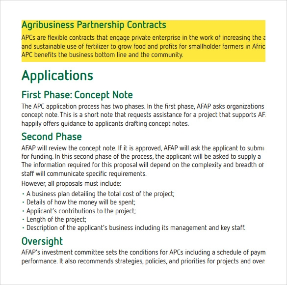 partnership contract template download in pdf