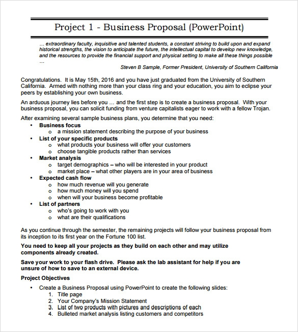 Sample Business Proposal - 6+ Documents In Pdf, Word