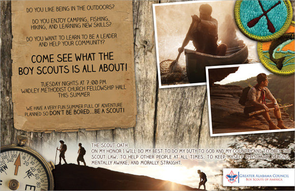 half page boy scout recruiting flyer