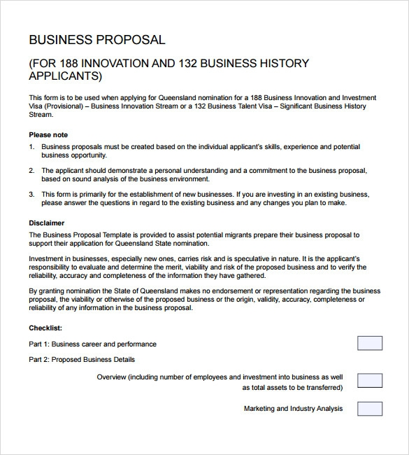 Sample Business Proposal   Documents In Pdf Word
