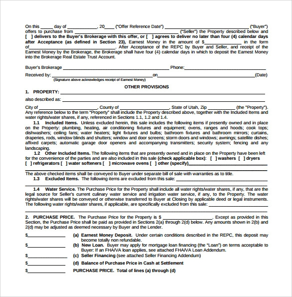 Real Estate Contract Templates 9 Download Free Documents in PDF – Real Estate Contract Template