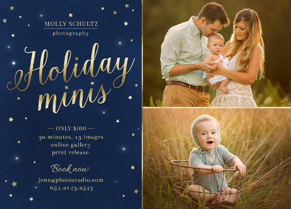 holiday minis flyer