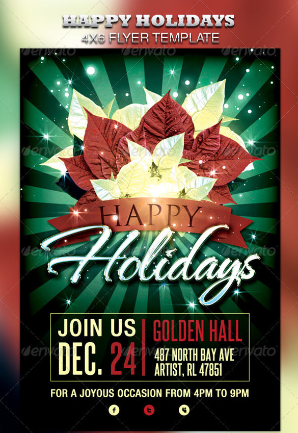 12 Awesome Holiday Flyer Templates to Download – Holiday Flyer Template Example