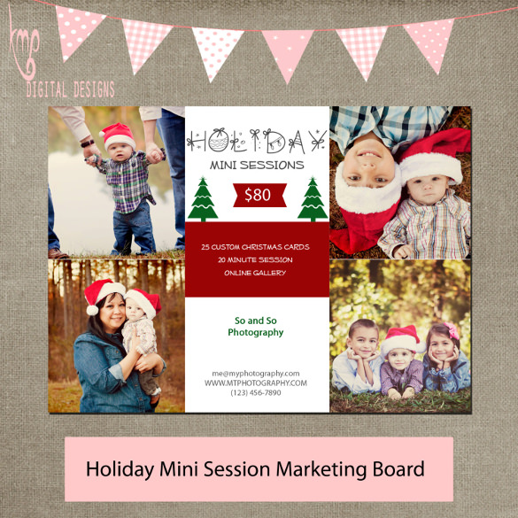mini session holiday flyer to download