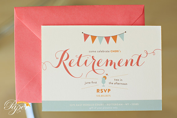 Retirement Party Flyer Template   Download Documents In Pdf Psd