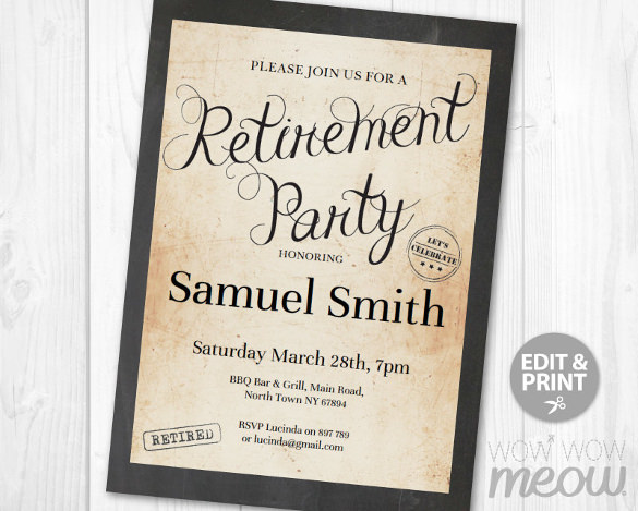 retirement party template free
