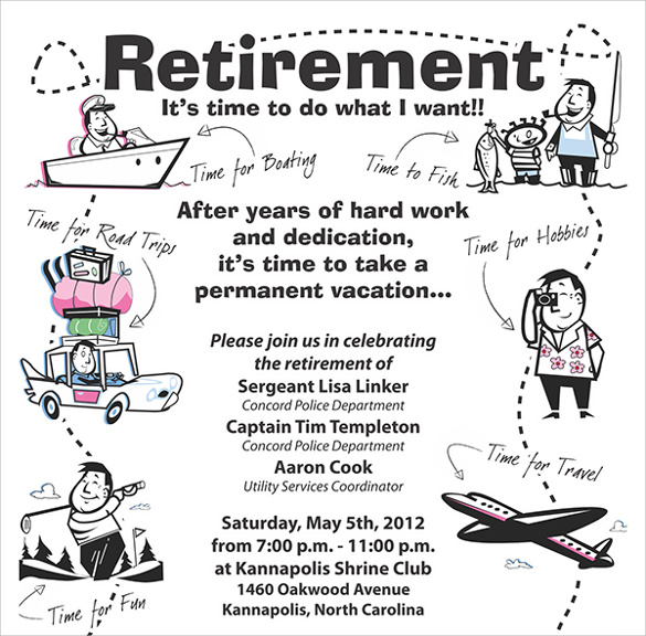 Retirement Party Flyer Template - 9+ Download Documents In Pdf
