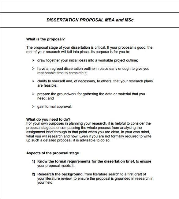 Sample Formal Proposal Template   Free Documents In Pdf Word