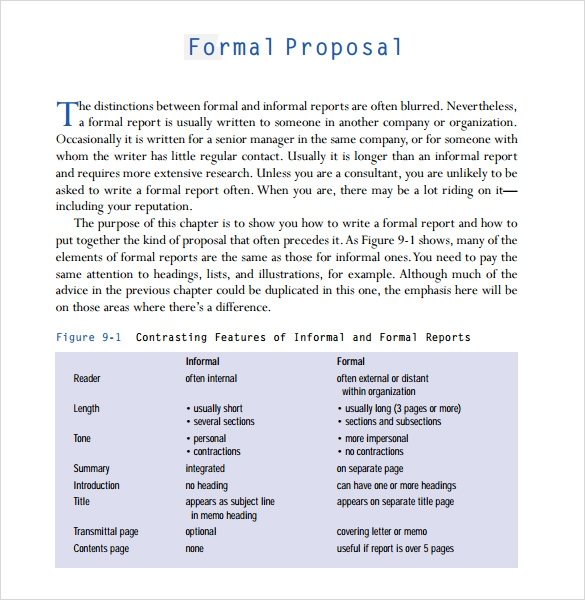 Sample Formal Proposal Template 7 Free Documents in PDF Word – Official Proposal Template