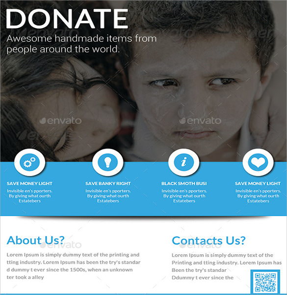 Fundraiser Flyer Template 19 Download in PSD PDF – Donation Flyer Template