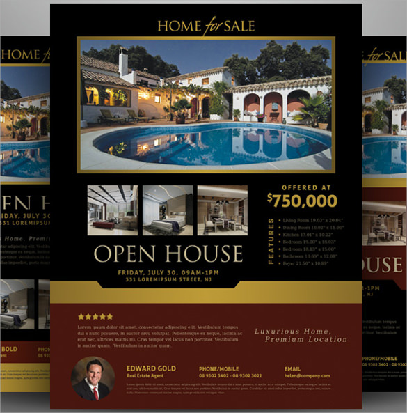 19 open house flyers sample templates for Open house brochure template