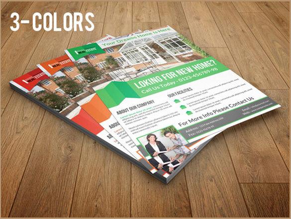 3 colour flyer template
