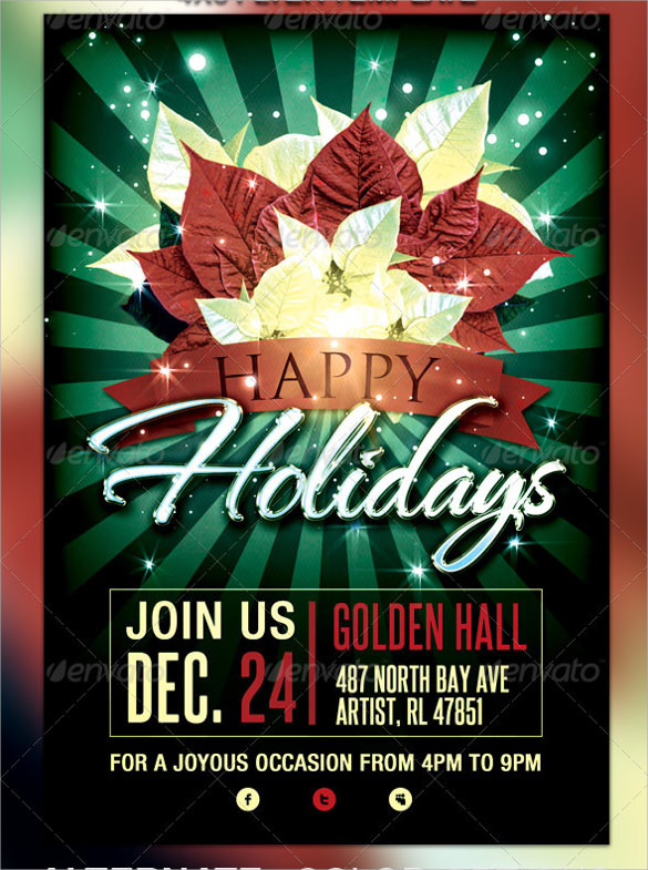 Amazing Holiday Party Flyer Template   Download Documents In