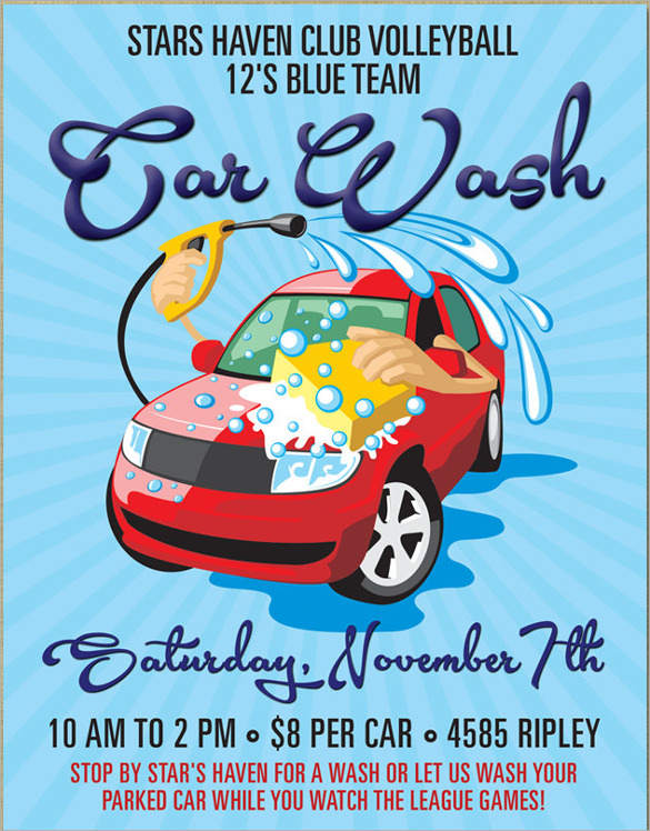 10 Car Wash Flyers PSD Vector EPS – Car Wash Flyer Template