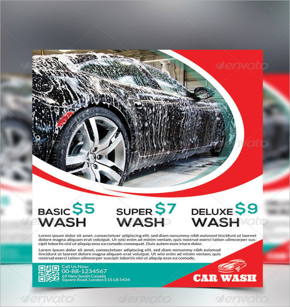 car wash flyer templates