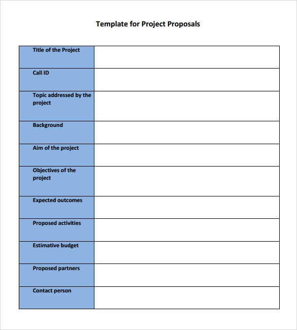 Simple Proposal Template PDF  Proposal Templates For Word