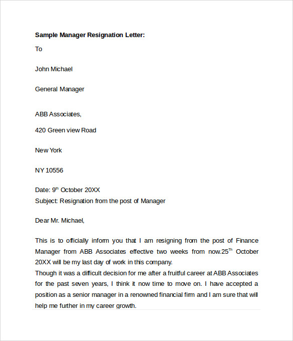 18 Samples Of Resignation Letters For Personal Reasons Resignation