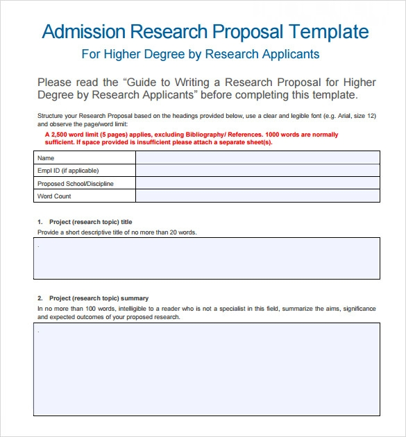 Sample Word Proposal Template 6 Documents In Pdf Word