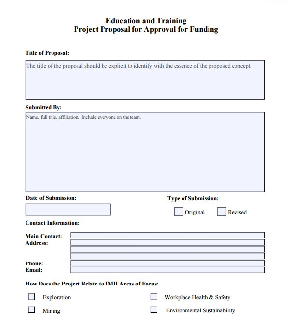 Sample Word Proposal Template - 6+ Documents In Pdf , Word
