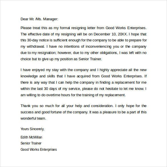 sample resigning letter1