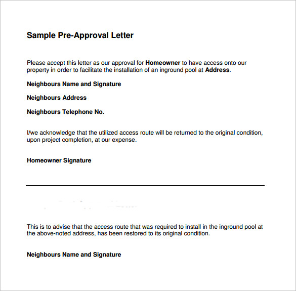 pre approval letter sample pre approval letter 8 free documents in 24042 | Sample Pre Approval Letter