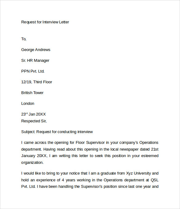 letter requesting status of job application how to interview
