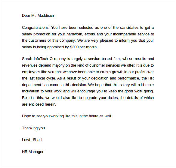 Employee-Promotion-Letter Sample Employee Promotion Letter Template on thank you for, congratulations your, template explanation,