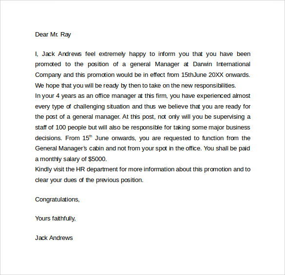 Doc728942 Sales Promotion Letter Examples promotion letter – Sample of Sales Promotion Letter