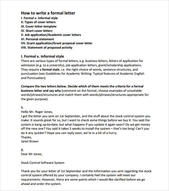 Informal Letter Format Hd Images