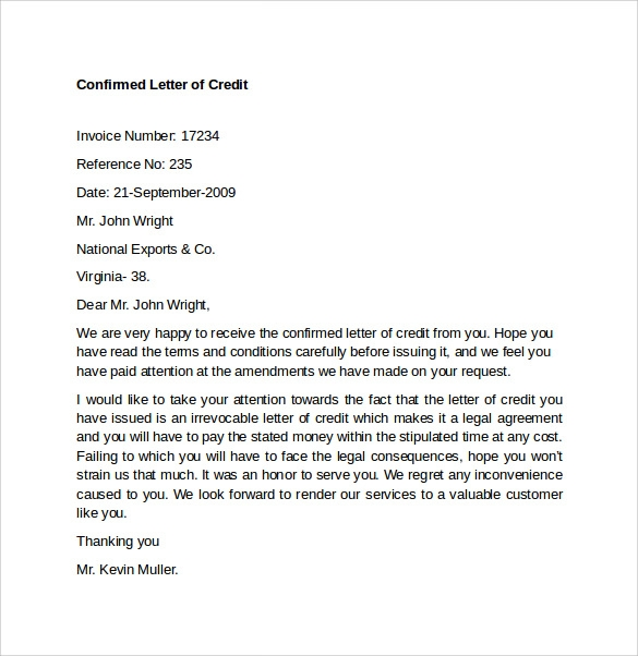 free section 609 credit dispute letter template - sample letter of credit 9 download free documents in word